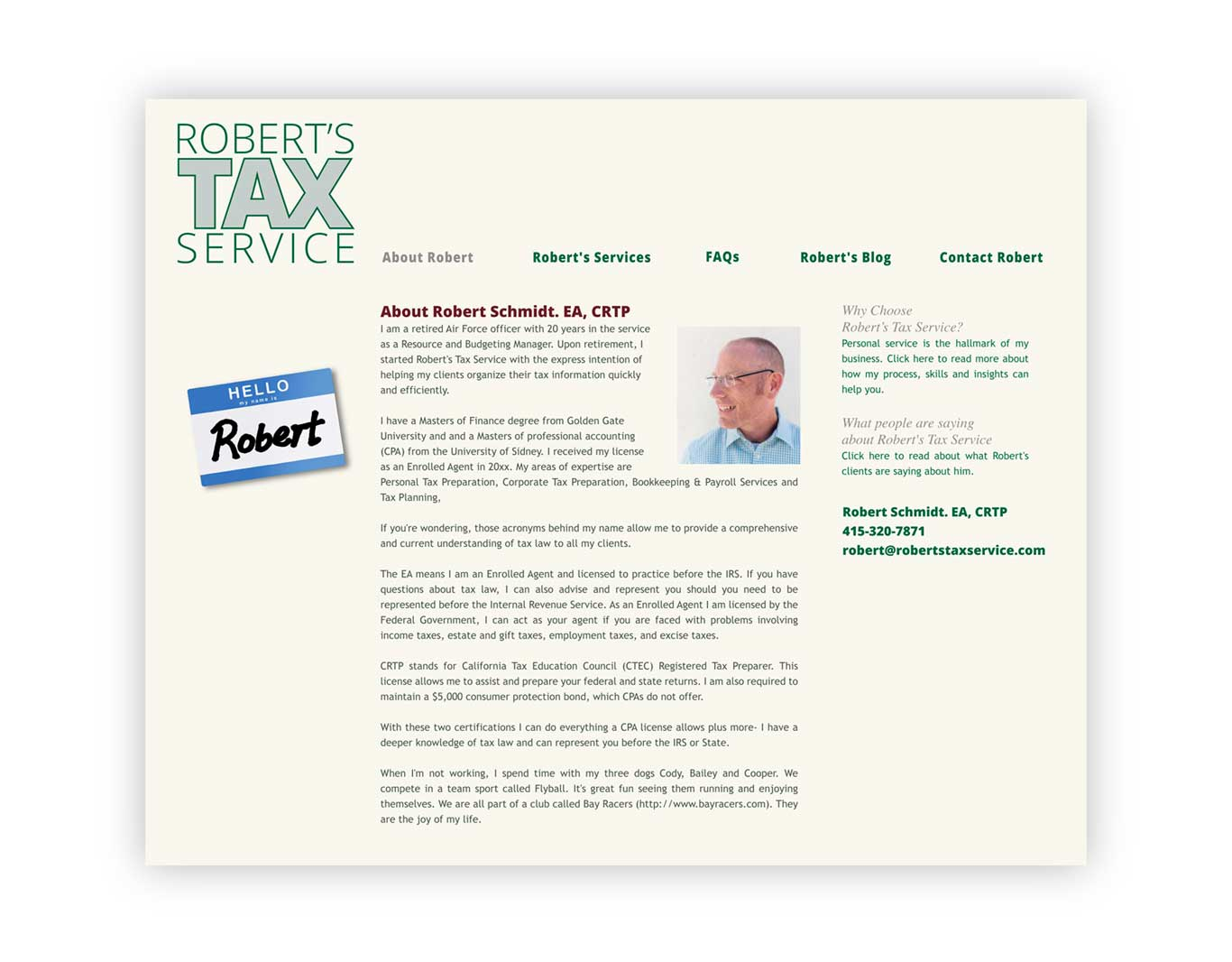 Website- Robert's Tax Service